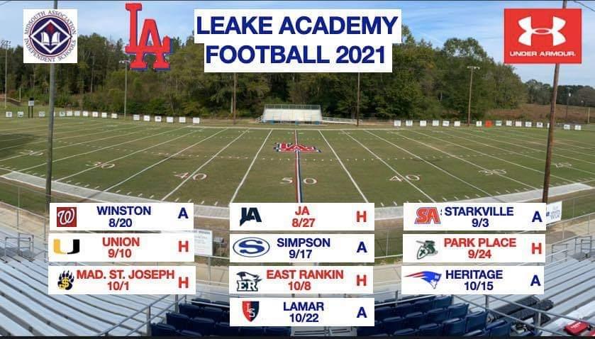 High School Football – <b>Leake Academy</b>